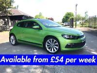 Volkswagen Scirocco (Golf A3 A4 320d R-line Focus Astra) £54 per week