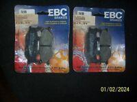 2 PAIRS OF EBC PADS TO FIT YAMAHA MODELS XJ & FAZER 600, MAJESTY, 125/250 VIRAGO, SR125 TDR125 ETC