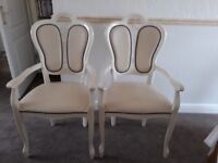 Stunning Italian leather dining chairs x 2