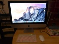 "Apple iMac 21.5"",intel core 2 duo 3.06 GHz,9 GB DDR3,500GB HDD,wireless keyboard+mouse,os X 10.10.5,"
