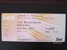 Les Miserables in London 3 May