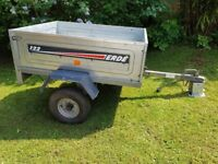 Car trailer plus cover, Bought in HALFORDS 122 ERGE