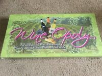 NEW Wine Opoly Board Game. New and Unused.
