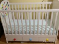 baby ikea cot solid wood