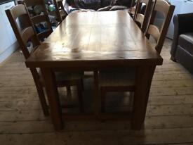 Table and chairs in solid oak - originally from designer outlet and now reduced