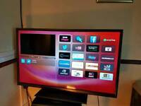 40 inch thin Hitachi SMART tv. Full hd. Built in Freeview. Remote