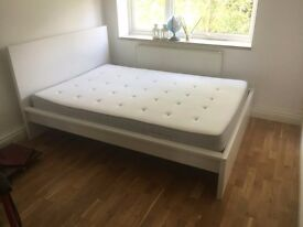 BedFrame+MatterassHASSANG,HighMALM Double (200x150x38cm). 1 user, purchased new!11 months life