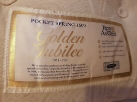 Rest Assured UK Double Pocket Spring Mattress - Used in good condition