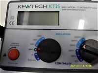 KEWTECH K T 35 insulation and continuity tester complete with leads ,but no batteries