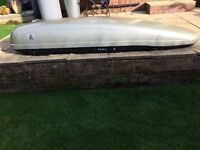 """Citroen roof box, dimensions approximately 90""""x 24"""""""