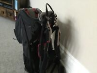 A1 CONDITION! Baby Bush ELITE Baby Carrier with all possible extras!