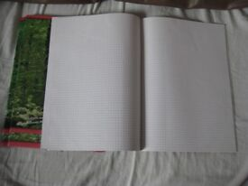 Eight Brand New 32 Page A4 Size Booklets of Graph Paper - 4 for £3.00