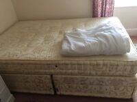 DOUBLE DIVAN BED INCLUDING DRAWS AND MATTRESS