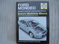 Haynes Ford Mondeo MK4 service and repair manual 2007-2012 (07 to 61 reg)