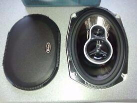 Tevion 6 x 9 3-way speakers, new/unused