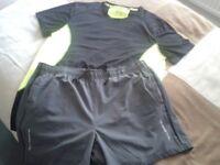 Mens Running top and shorts