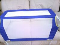 Tomy blue and white bed guard for child's bed