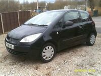 MITSUBISHI COLT 1.1 3 DOOR, 2009, NEW MOT, 44K MILES, 2 OWNERS FROM NEW