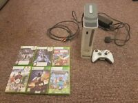 XBOX 360 WITH 6 GAMES VERY GOOD CONTITION