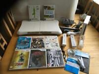 Wii Consol Fit Board/8 Games
