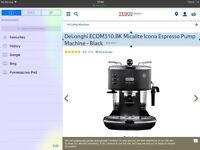 DeLonghi ECOM310.BK Micalite Icona Espresso Pump Machine - Black