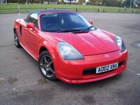 TOYOTA MR2 MK3 CONVERTIBLE WITH HARD TOP, LOW MILES GOOD CONDITION, LEATHER SEATS