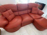 3 Seater Sofa, Footstool & Snuggle Chair