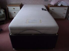 Single divan electrically operated bed