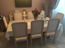 8 x high back dining chairs