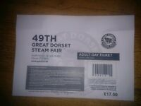 Great Dorset Steam Fair Saturday Day Ticket