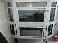 Small animal cage hutch