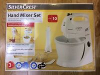Silvercrest KITCHEN TOOLS Hand Mixer Set blender function stand, rotating bowl, dough hooks