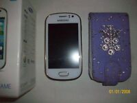 SAMSUNG GALAXY FAME MOBILE PHONE WITH BOX AND CASE