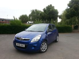 2010 HYUNDAI I20 1.2 LTR 5DR HATCH FSH CHEAP TO INSURE AND TAX EX CONDITION