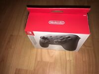 Brand New and Sealed Nintendo Switch Pro Controller Black Boxed New