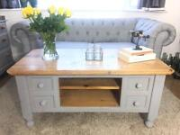 SOLID WOOD COFFEE TABLE FREE DELIVERY SHABBY CHIC GENUINE PINE 🇬🇧GOTHIC HAND CRAFTED