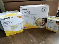 Medela swing electric brest pump and accessories