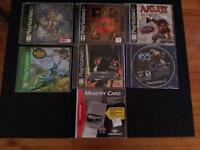 6 jeux de playstation 1 avec carte mémoire le tous pour 20$