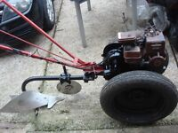 tractor villiers ploughs ,petrol engine 3hp full working ready to use