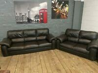 DESIGNER LEATHER SOFA SET 3+2 SEATER IN GOOD CONDITION