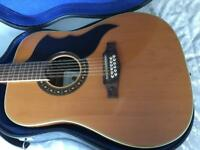 Eko Ranger 1970s 12-strong Acoustic Guitar and hard case