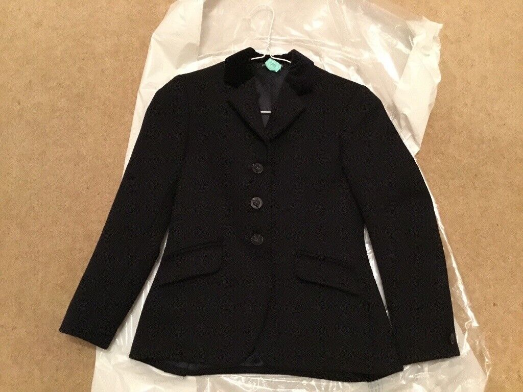 """Girls Mears Pytchley Navy show jacket 25"""""""
