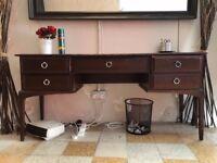 wooden side dresser table