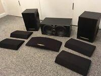 set of 3 kenwood speakers 100 watts each 6 bass drivers