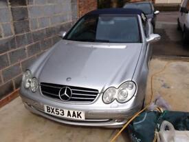 Mercedes clk 320 avantguard 99,000 convertible