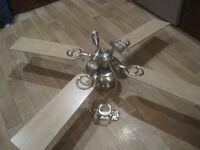 Beech ceiling light fan... Excellent condition