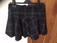 Next Tartan Skirt - in excellent condition - Size 8