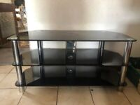 x2 Glass TV stand