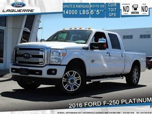 2016 Ford F-250 PLATINUM**4X4*CUIR*TOIT*GPS*CAMERA* FULL !!**
