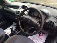 Peugeot 206, mileage 85k, 1 year MOT, Remote central locking, alloys, CD player